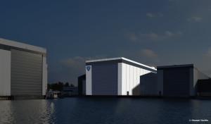 Heesen New Shed 85m dry dock June 2015